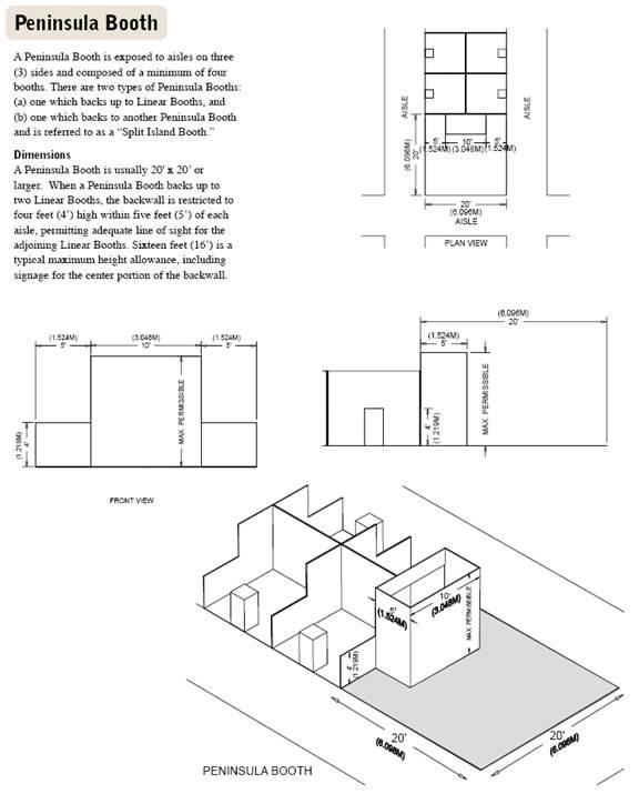 Penninsula Booth Diagram