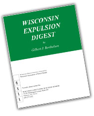Wisconsin Expulsion Digest