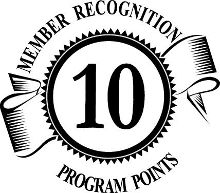 10 Member Recognition Points Logo