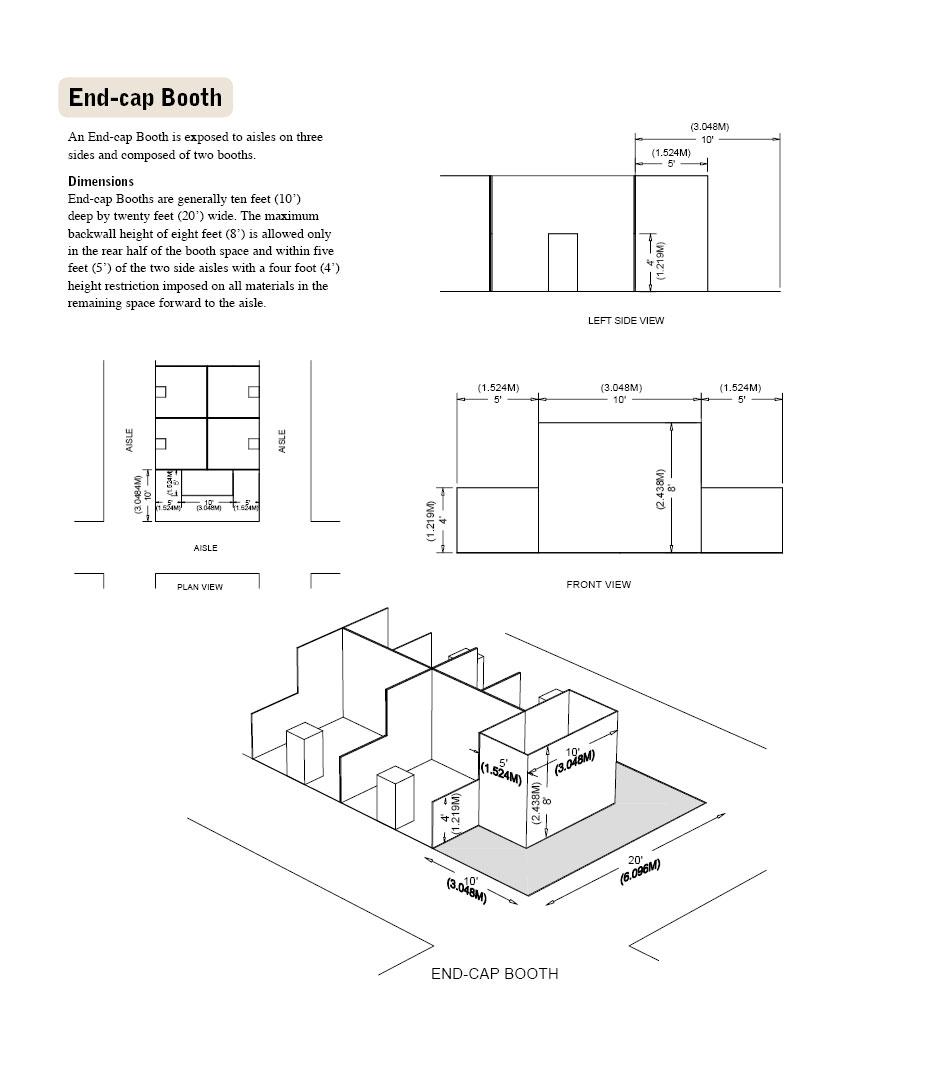 Endcap Booth Diagram