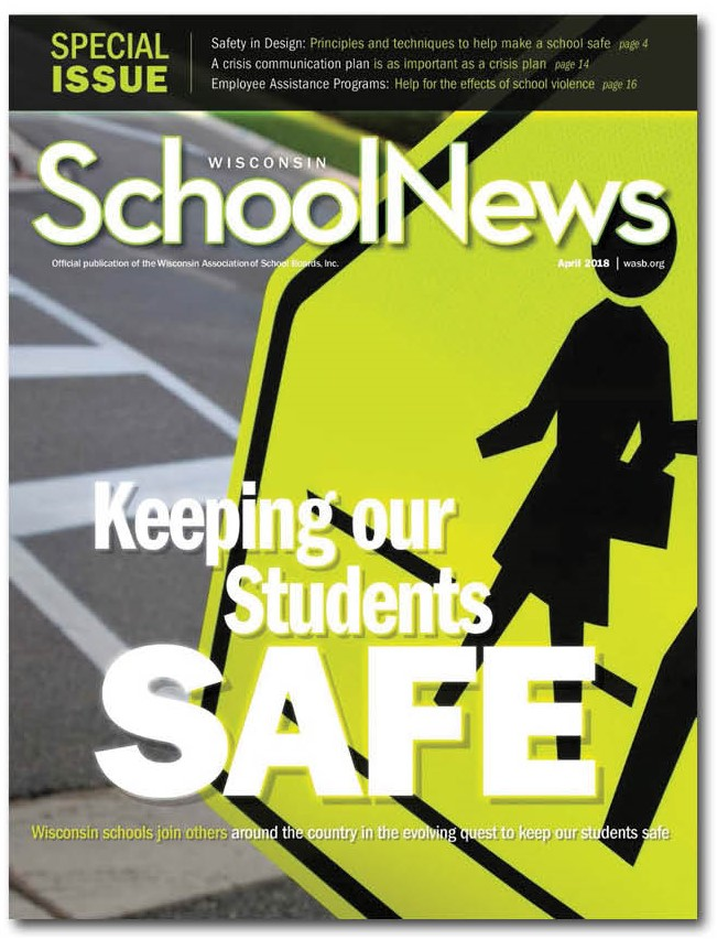 cover of April 2018 Wisconsin School News