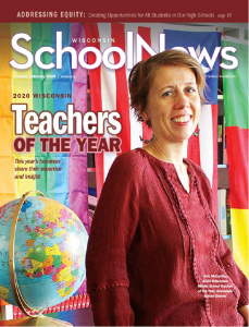 Cover of the January-February issue of Wisconsin School News.