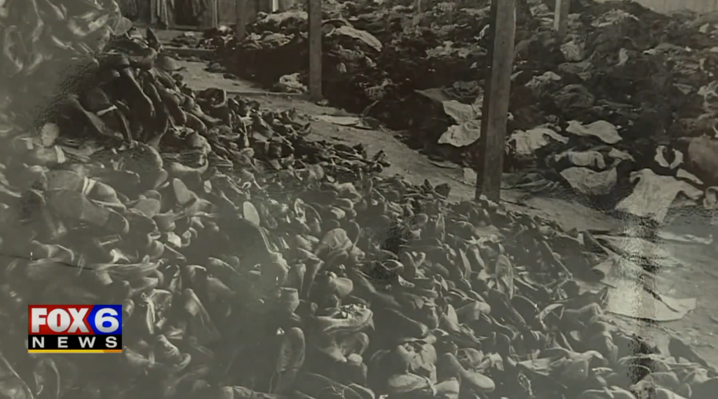 Image of shoes taken from Holocaust victims.