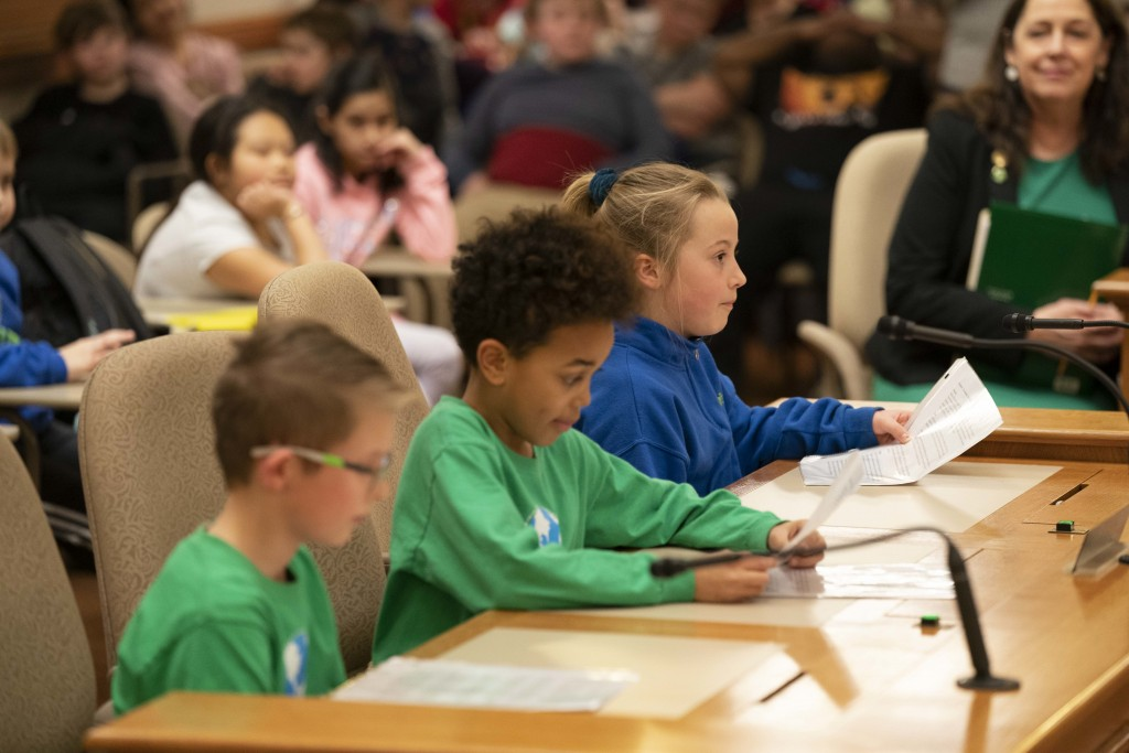 Children testify at a House hearing.