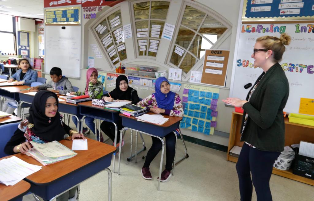 Students listen to their teacher.