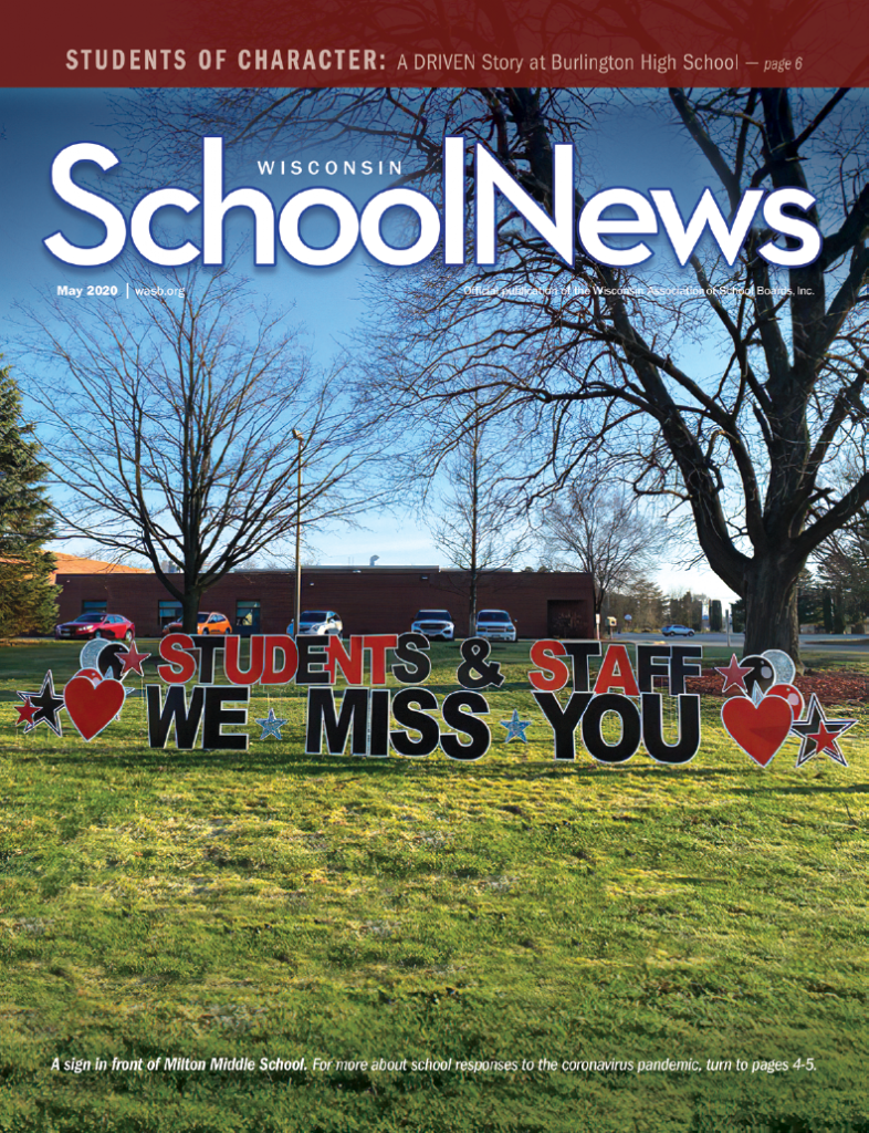 Cover of the March issue of Wisconsin School News