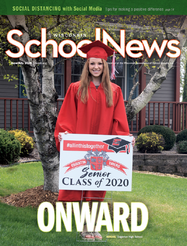 Cover of 2020 issue of April Wisconsin School News