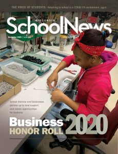Image of the December 2020 Cover of the Wisconsin School News